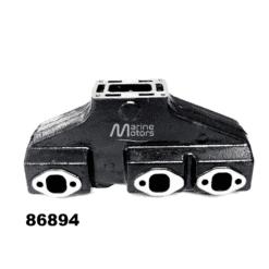 Collecteur d'échappement VOLVO PENTA 856894-1 GM 262 CID V6 4.3l 1993 et avant (Joint humide / wet)