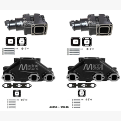 Kit complet Collecteur 99746 + Coude 44354 Mercruiser GM 262 4.3L V6 1983-2002  (Joint humide / wet)