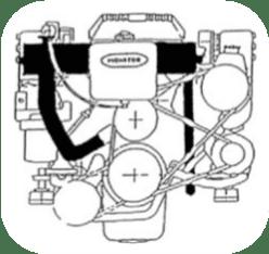 MFH-5229 - Kit échangeur eau douce partiel pour MercruiserV6 4.3l V8 5.0l, 5.7l 1970-2007