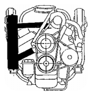 MFV-5241 - Kit échangeur eau douce partiel pour Volvo Penta V6 4.3l V8 5.0l, 5.7l, 6.2l 1970-1999