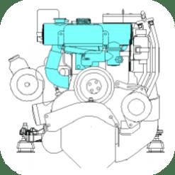 MFH-5344 - Kit échangeur eau douce partiel pour Mercruiser L4 3.0l 1997-2005