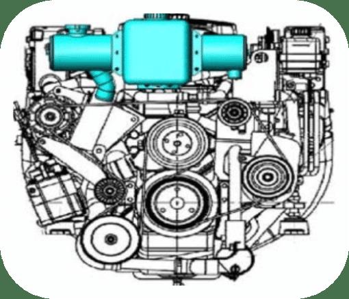 MFH-5433 - Kit échangeur eau douce partiel pour Mercruiser V6 4.3l V8 5.0l, 5.7l 1999-2011