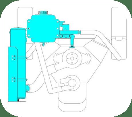 MRM-5439 - Kit échangeur eau douce partiel pour Volvo Penta V8 5.0l, 5.7l2000-2011