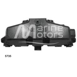 5735- Collecteur d'échappement Mercruiser - GM 350 CID – V8 – 5.0l - 5.7l - 6.2l - 2002 et + (Joint sec / dry)