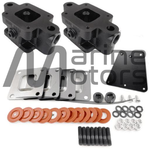 65995- Kit de cales de 2 rehausses 1.7 pouces -MERCRUISER V6 et V8 - 2002 et + - (Joint sec / dry)