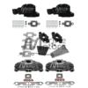Kit Complet Collecteurs 5735 + Coudes 84309 + Rehausses 65995Mercruiser 5.0l, 5.7l, 6.2l V8 2002 et + - (Joint sec / dry) (Copie)