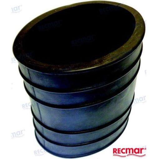"""REC32-14358001- Manchon ovale échappement inférieur 4"""" Mercruiser 32-14358001"""