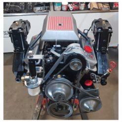 Moteur complet 4.3l OMC 175 cv ou 205 cv reconstruit à neuf ,entièrement équipé , prêt à être installé et à roder . Bloc remanufacturé à neuf . Vendu avec la cloche et accouplement Démarreur , pompe à eau , allumage, coudes et collecteurs ainsi que tous les consommables sont neufs . Supplément 205 cv: 650 € (carburateur 4 corps Rochester + pipe admission )