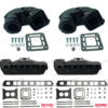 Kit Complet Collecteurs MAR870 + Coudes BAOMC-20-3862603 - VOLVO PENTA GM L4 3.0L (Joint humide / wet)